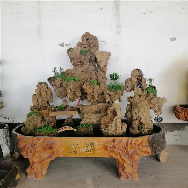 假山花盆展示