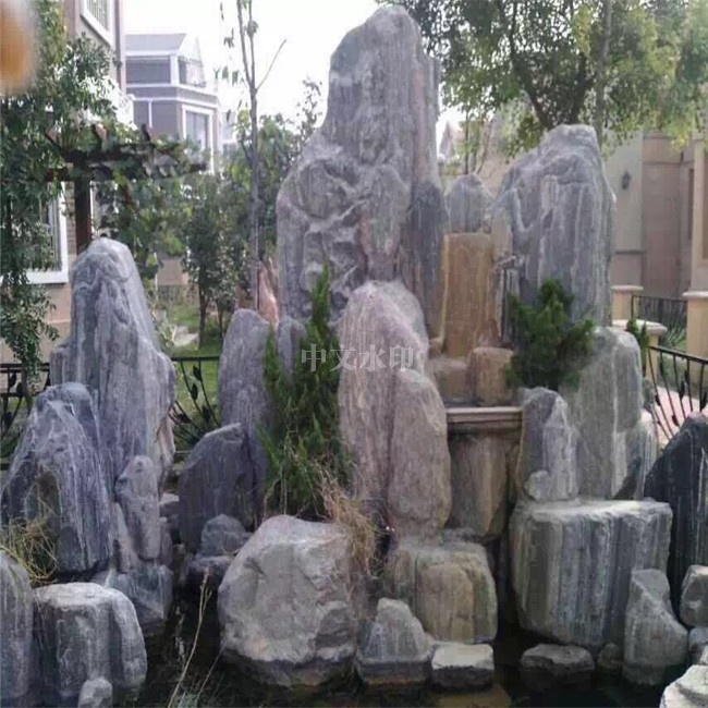 海南喷泉厂家设计假山盆景