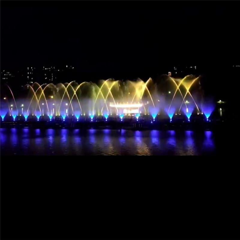 人工湖音乐喷泉